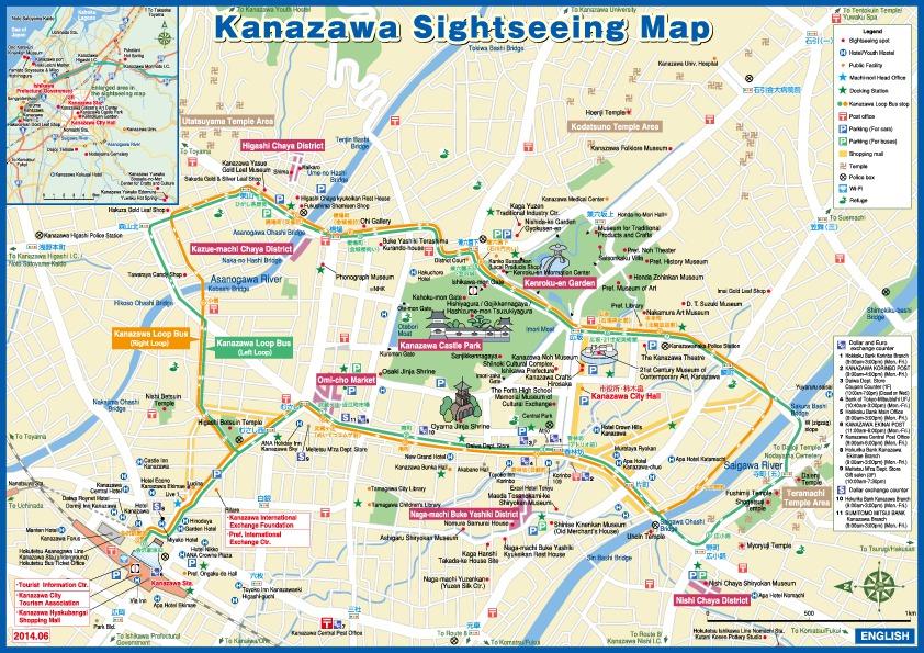 thumbnail of kanazawa sightseeing map